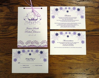 """Tangled Wedding Invitation Booklet 5"""" by 7"""""""