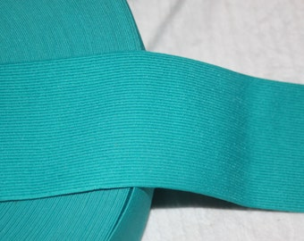 "1 yard Teal Green 2.75"" wide boxer knit waistband sewing knitted elastic"