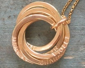 Gold name necklace for grandmother gifts from grandkids necklace personalized gift for mother necklace - Lilia