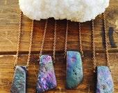 Rainbow Titanium Quartz Crystal Necklace/ Natural Gem Stone/ Raw Quartz/ Rainbow Quartz Pendant/ Reversable Necklace/ Boho