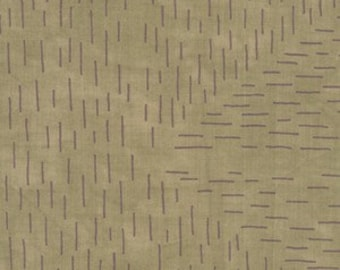 Whisper Collection by Riverwoods Fabrics- Full or Half Yard Cut - Slate Green with Purple Dashes- 1703-2