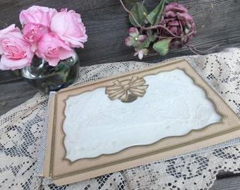 Vintage Bridal Handkerchiefs, Vintage Hankies, set of 2, Made in Switzerland, White Cotton Handkerchiefs