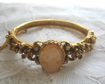 Vintage Victorian Revival Cameo Bracelet ~ Florenza