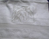 Embossed Horse Head Towels