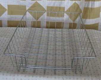 Vintage Office Paper Tray Basket Vintage Office Storage Wire Desk Tray Industrial