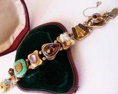 Antique Victorian slide bracelet 14K YG RARE