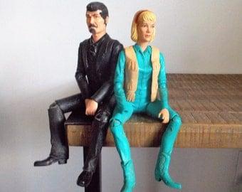 Vintage  Marx Johnny West Dolls Jane West and Sam Cobra