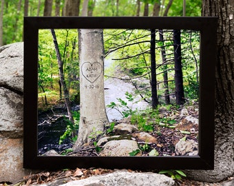 Personalized Tree Art, Gift for Mom, Couples Gift, Father Gift, Names in Tree, Unique Wedding Gift, Keepsake Gift,  Dad Gift, Gift Under 25