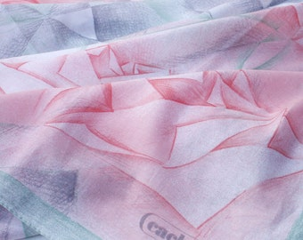 Cacharel Tablecloth Rectangle Geometric Pink and Green Table Cover