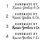 SEMI-CUSTOM Handmade by STICKERS | Handmade By design with 4 script options | Business stickers