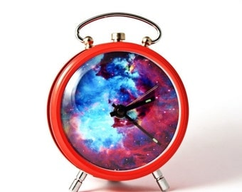 25 OFF SALE Nebula alarm clock Nebula Hubble Space red alarm clock