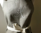 Monogram Apron Monogrammed One Letter Personalized Apron Custom Made