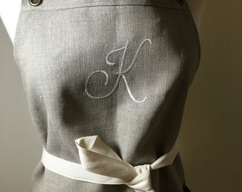 Monogram One Letter Personalized  Does Not Include Apron Apron Purchased Separately