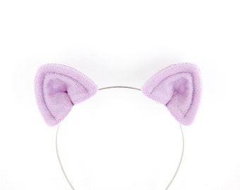 Cat Ears Hair Clips Purple Plush Cat Costume Ears