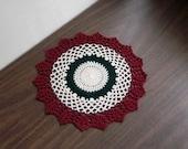 Victorian Christmas Crochet Lace Doily, Table Decoration, Home Decor