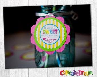 Rainbow Favor Tags Candy Birthday