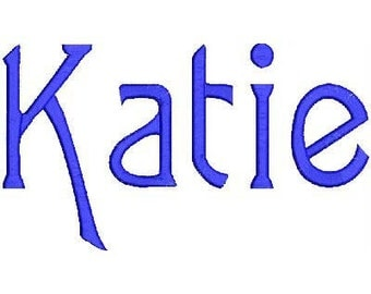 Katie Embroidery Machine Alphabets Fonts and Monogram Set 20008 Instant Download