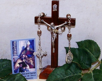 Saint Cyprian and Pope Saint Cornelius Unbreakable Catholic Novena Chaplet - (St. Cornelius) Patron Saint Against Earache, Fever & Epilepsy