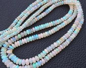 15 Inch Long, Finest Quality, ETHIOPIAN Opal Smooth Rondelles,4-4.5mm size,Superb Promotional Price Offer