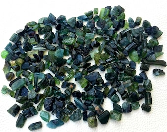 400 Cts,Brand New,Amazing RARE BLUE-GREEN Tourmaline Rock ,8-10mm,Amazing Rare Item