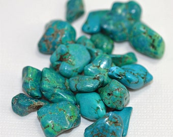 Turquoise (magnesite, dyed) blue/green nuggets - #1883