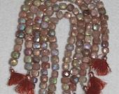 AB, AB Sunstone, Cube Bead, Sunstone Cube, Faceted Cube, Natural Stone, Gemstone Bead, Semi Precious, Natural Sunstone, Half Strand, 7-8mm