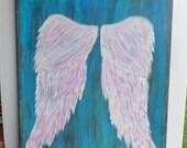 Angel Wing Original Painting - 16 x 20 Canvas