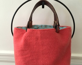 Tangerine Felted Tote Bag