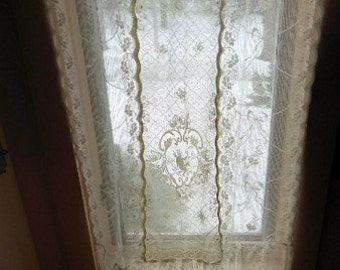 All Cotton Patchwork Lace Curtains Made to Order
