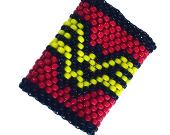 Wonder Woman - Custom Sized Peyote Stitch Dreadlock Beads - the perfect gift!
