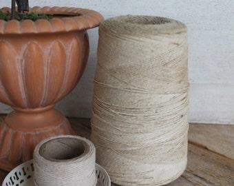 Large Vintage Spool of Thread, Off White