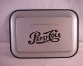 Pepsi Cola Metal Tip Tray Change Tray Advertising