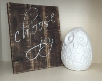 Pallet sign, choose joy sign, sign, farmhouse sign, rustic sign, reclaimed wood sign, inspirational sign, gallery wall sign, joy sign, home