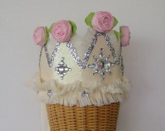 Princess Birthday crown, princess  birthday hat, girl birthday crown,