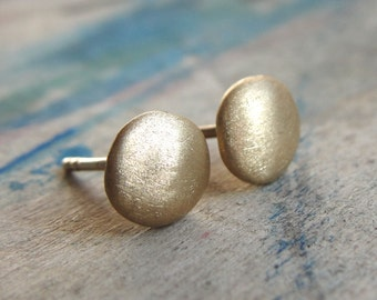 Gold Earrings - Gold Studs - 18k Gold Earrings
