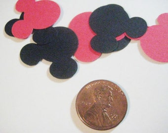 Red and Black Mickey Mouse Table Scatter, Confetti, Die Cuts, Punches
