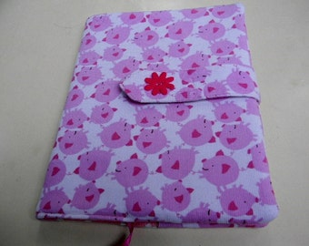 Pink Pigs Fabric covered Journal