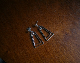 Vintage 1980s Geometric Earrings
