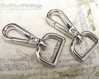 10pcs 54x28mm ZINC alloy push gate hook Swivel hook For Bag, Purse Strap