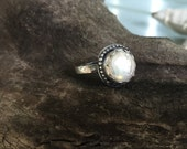 Sterling Silver Freshwater Pearl Statement Boho Ring