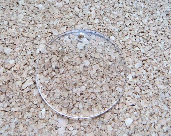 Clear Acrylic Circles Round Keychain Blanks 2 Inch Lot of 25