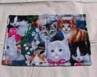 Cat Blanket - cat faces
