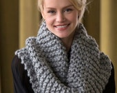 Knitting Pattern Voluminous Cowl Instant Download PDF Easy Pattern Knit Cowl Pattern