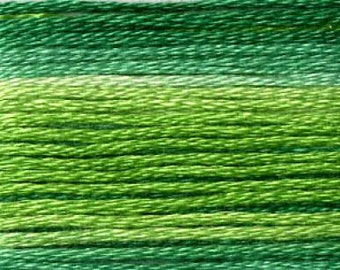 Cosmo, 6 Strand Cotton Floss, SE80-8022,  Seasons Variegated Thread, Embroidery Thread, Punch Needle, Embroidery, Sewing Accessory