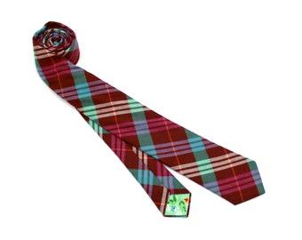 Jewel Plaid Necktie