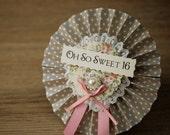 Vintage Style Jewel Birthday and Celebration Rosettes