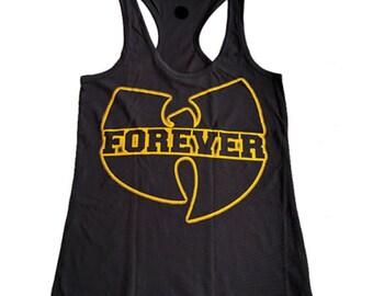 Wu Tang Forever woman's ring spun Racerback tank top - Free Shipping!