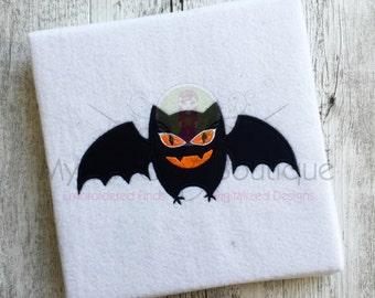 Bat Applique Designs Machine Halloween Embroidery Patterns - Applique Downloads - Holiday Appliques - 4 Sizes - Instant Download