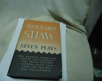Vintage 1951 Seven Plays Hardback Book by Bernard Shaw Dodd Mead & Co, collectable