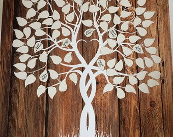 Guest Book Tree Wood Wedding Tree Guestbook Wedding Tree Poster Guest Book Alternative Poster Custom Wedding Gift Rustic Wedding Tree Print